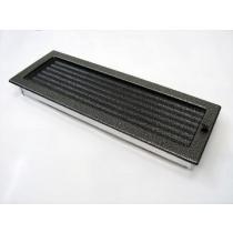 Amstal - Krbová mřížka 17x49cm černostříbrná s žaluzií