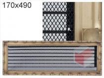 Amstal - Krbová mřížka 17x49cm Diana s žaluzií