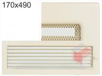 Amstal - Krbová mřížka 17x49cm krémová s žaluzií