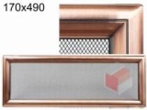 Kratki - Krbová mřížka 17x49cm Oskar měď