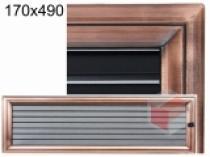 Amstal - Krbová mřížka 17x49cm Oskar měď s žaluzií