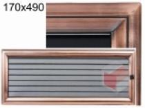 Amstal - Krbová mřížka 17x49cm Oskar zlato s žaluzií