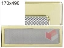 Kratki - Krbová mřížka 17x49cm pozlacená