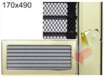 Kratki - Krbová mřížka 17x49cm pozlacená s žaluzií