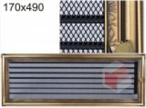 Amstal - Krbová mřížka 17x49cm rustikální s žaluzií