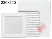 Amstal - Krbová mřížka 22x22cm bílá