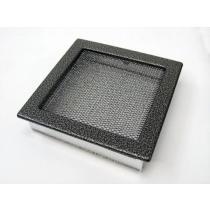 Amstal - Krbová mřížka 22x22cm černostříbrná