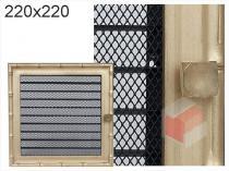 Amstal - Krbová mřížka 22x22cm Diana s žaluzií