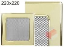 Kratki - Krbová mřížka 22x22cm pozlacená