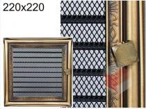 Amstal - Krbová mřížka 22x22cm rustikální s žaluzií