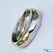 Kované nerezové snubní prsteny - Skalák