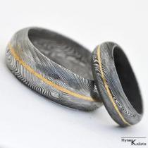Snubní prsteny damasteel - Golden Line