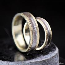 Snubní prsteny damasteel - Kasiopea