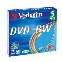 Verbatim DVD-RW, 4x, 5-slim