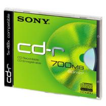 Sony CD-R 700 MB, 48x, 1 ks