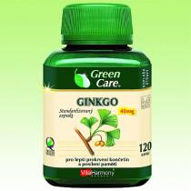Green Care Ginkgo 40 mg stand. extrakt - 120 cps.