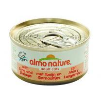 Almo Nature Cats konzerva tuňák+krevety 70g
