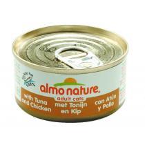 Almo Nature Cats konzerva tuňák+kuře 70g