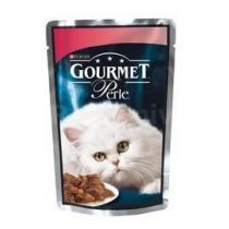 Gourmet Perle kapsa kočka s hovězím a mrkví 85g
