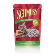 Schmusy Cat Flakes kapsa králík+rýže 100g