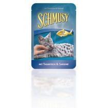 Schmusy Cat kapsa Fish tuňák+sardinky 100g