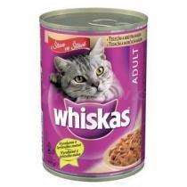 Whiskas konzerva telecí+krůta 400g
