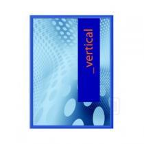 Klaprám A0, profil 25 mm, modrá barva, ostrý roh KRA0G25C5010