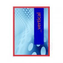 Klaprám A4, profil 25 mm, červená barva, ostrý roh KRA4G25C3020