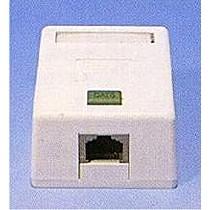Zásuvka 1port na om.,STP Cat5E,bílá, blok 110