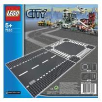LEGO Rovná silnice a křižovatka