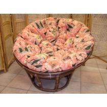 Polstr na křeslo papasan průměr 100 cm barevná mozaika