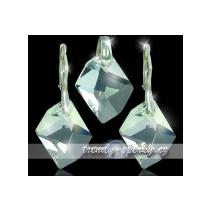 Swarovski krystaly stříbrná souprava šperků s křišťálem