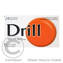 Dietetique et pharmacie Drill růžový - med (24 pastilek)