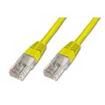 Digitus Patch Cable, UTP, CAT 5e, AWG 26 / 7, žlutý 1m, 10ks