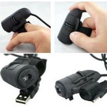 Optická myš připnutelná na prst