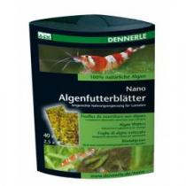 Dennerle Nano Algenfutterblätter 40Ks (řaskové plátky)