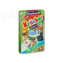 Vitakraft Kracker Rabbit Honey + Popcorn + Active - 3ks