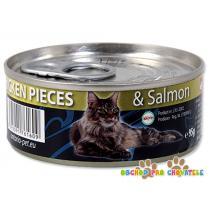 ONTARIO Chicken Pieces + Salmon 95g