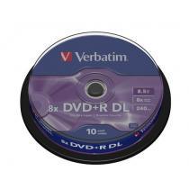 DVD+R DL Verbatim ( cake box 10 , 8.5GB , 8x , matte silver )