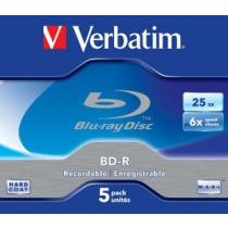 BluRay BD-R Verbatim ( jewel case 5 , 25GB , 6x , Scratchguard Plus )