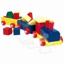 Bino Vlak velký barevný 2 vagony