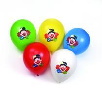 Papstar Nafukovací balonky 10 ks, 25 cm Klaun