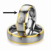 Silvego Ocelový prsten - snubní - pro ženy RC2044-Z - RC2044-Z