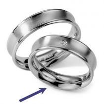 Silvego Ocelový prsten - snubní - pro ženy RC2027-Z - RC2027-Z