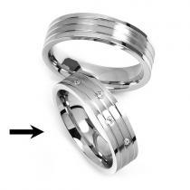 Silvego Ocelový prsten snubní pro ženy RRC2095-Z - RRC2095-Z