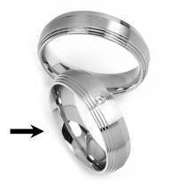Silvego Ocelový prsten snubní pro ženy RRC2030-Z - RRC2030-Z
