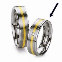Silvego Ocelový prsten - snubní - pro ženy RC2042-Z - RC2042-Z