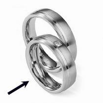 Silvego Ocelový prsten - snubní - pro ženy RC2021-Z - RC2021-Z