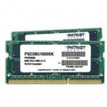 Patriot Signature Line 8GB (2x4GB) DDR3 1600 SO-DIMM CL11 (PSD38G1600SK )