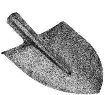 LEVIOR Rýč špičatý bez násady 61004